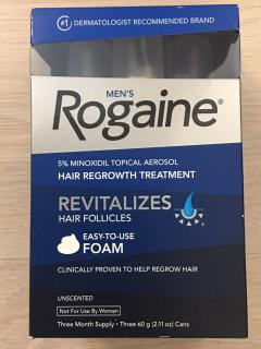 ยาปลูกผมชาย Rogaine Minoxidil 5% แบบโฟม, โรเกนโฟม